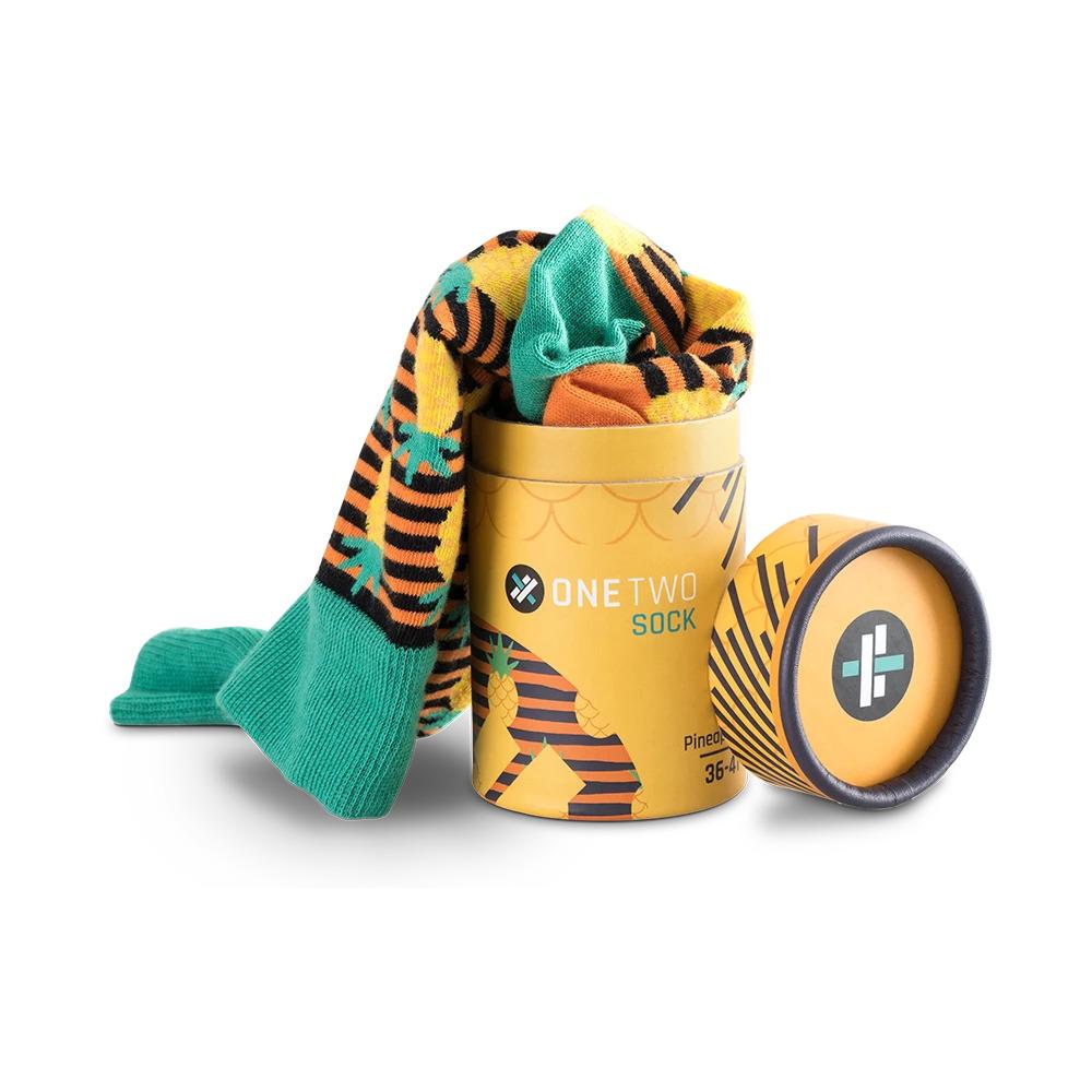 Ananas Desenli Tasarım Çorap - One Two Sock