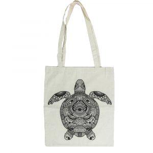 Kaplumbağa Desenli Bez Çanta