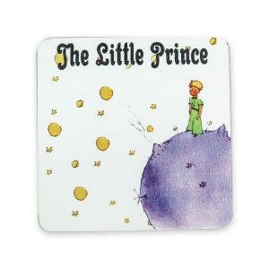 Küçük Prens Desenli Ahşap Bardak Altlığı