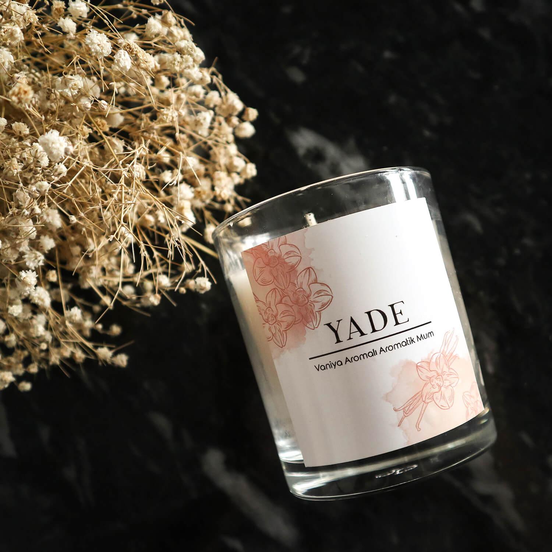 Vanilya Kokulu Aromatik Mum