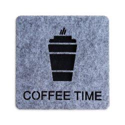 Coffee Time Keçe Bardak Altlığı