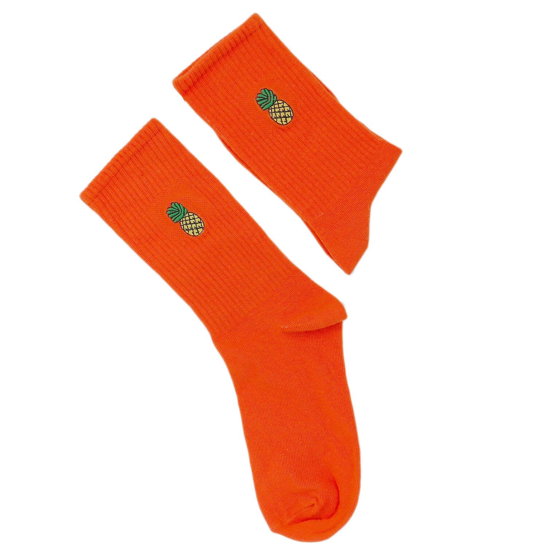 Ananas Tasarımlı Nakışlı Çorap