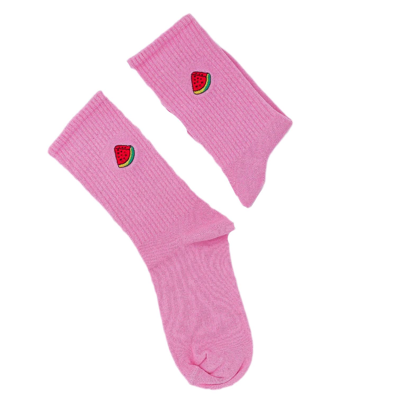Karpuz Tasarımlı Nakışlı Çorap