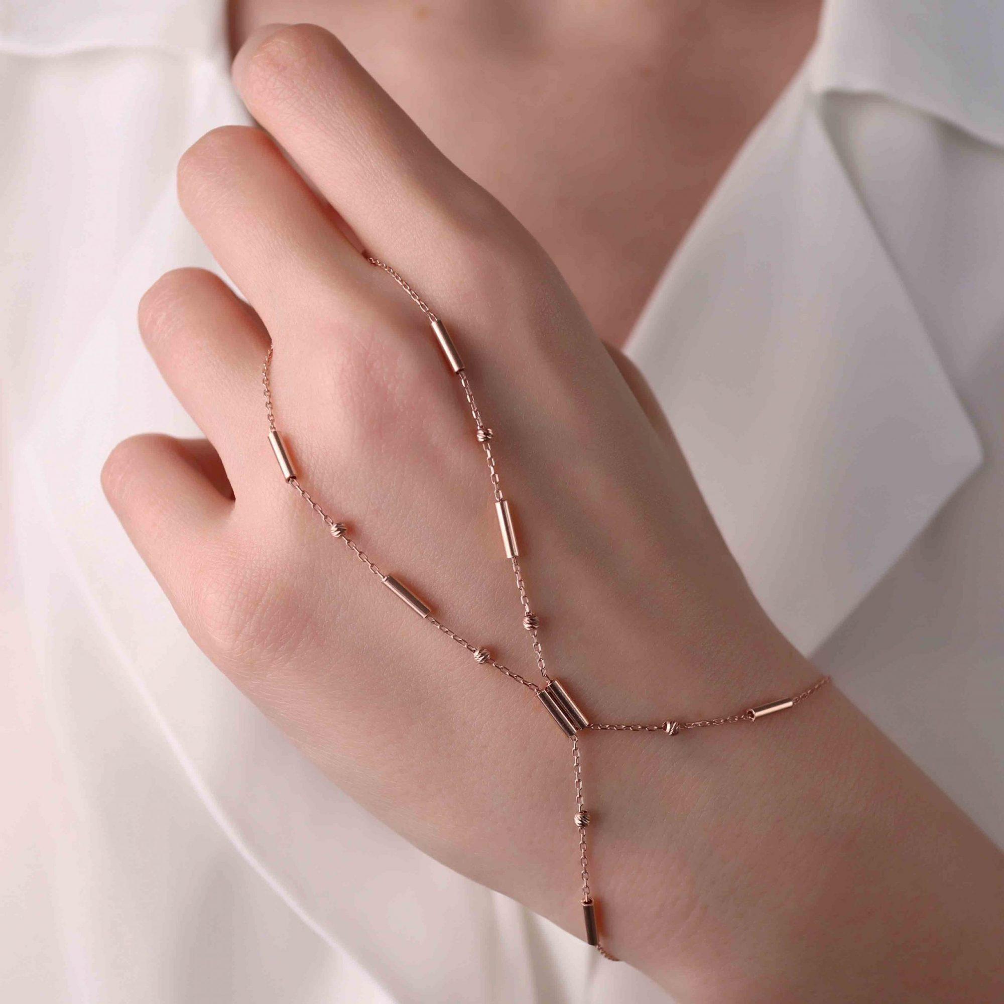 Rose - 925 Ayar Gümüş Zincir Tasarım Şahmeran