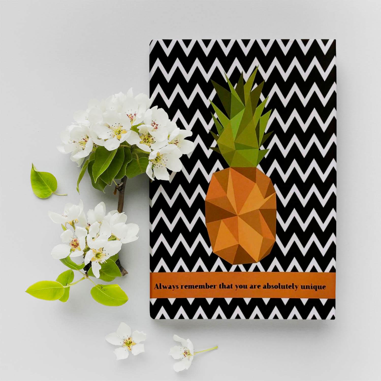 Ananas Tasarımlı Noktalı Defter3