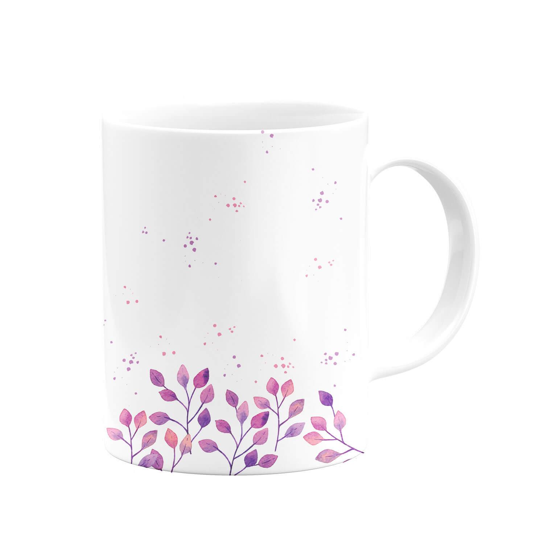Çiçek Desenli Kupa