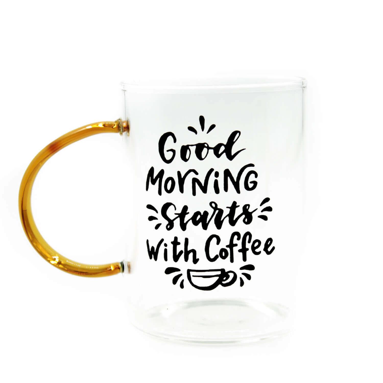 Good Morning Starts With Coffee Cam Kupa