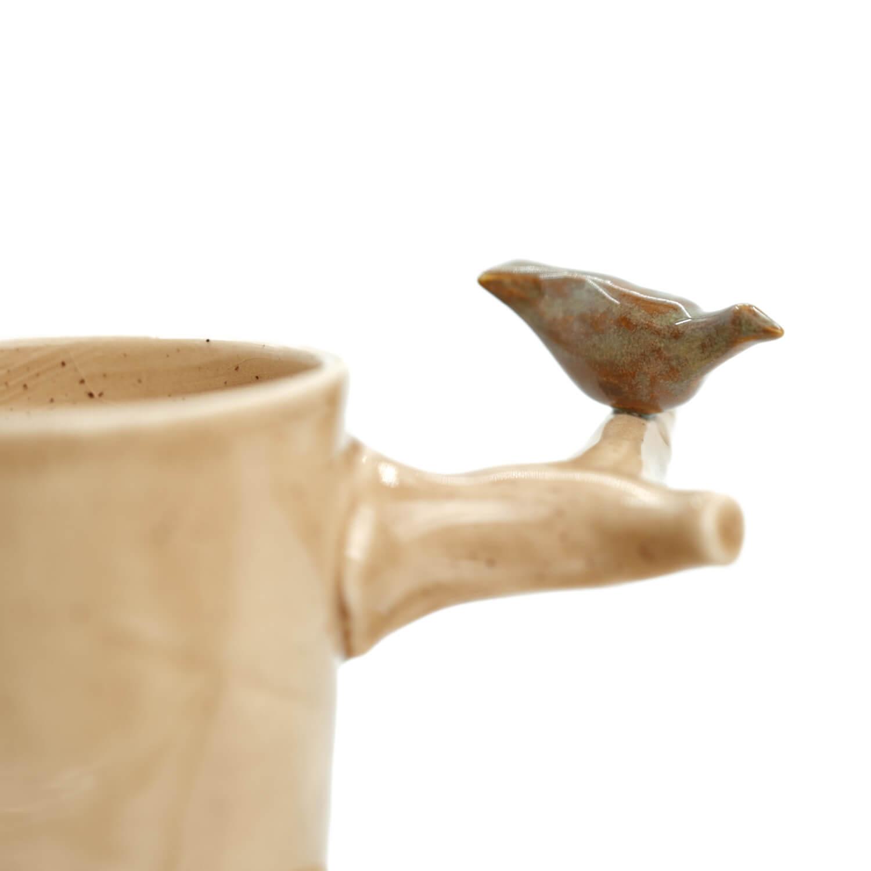 Haki Kuşlu El Yapımı Fincan Takımı3