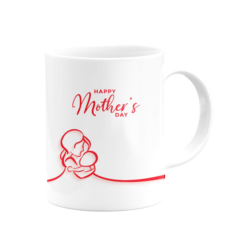 Kırmızı Happy Mother's Day Kupa