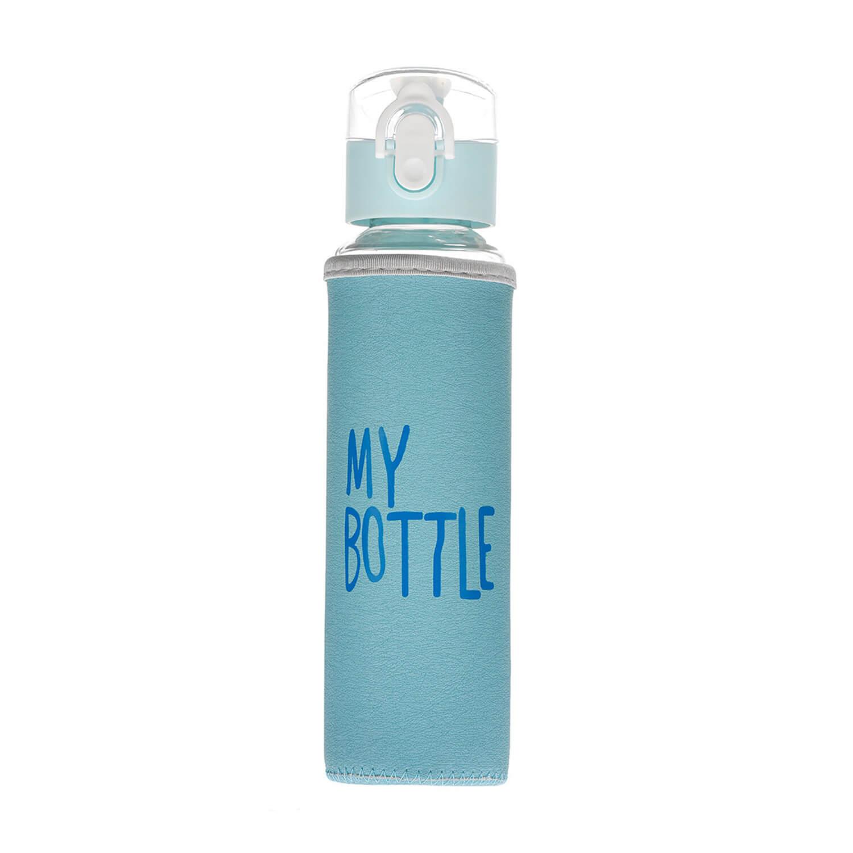 My Bottle Kılıflı Cam Matara - Turkuaz