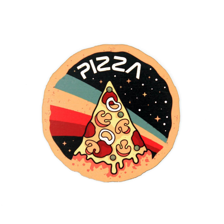 Pizza Bardak Altlığı