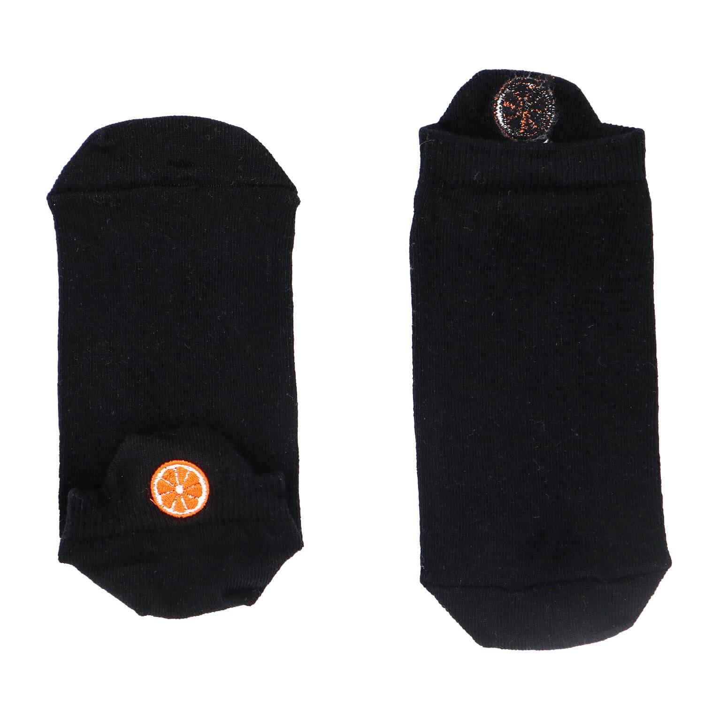 Portakal Tasarımlı Nakışlı Siyah Patik Çorap