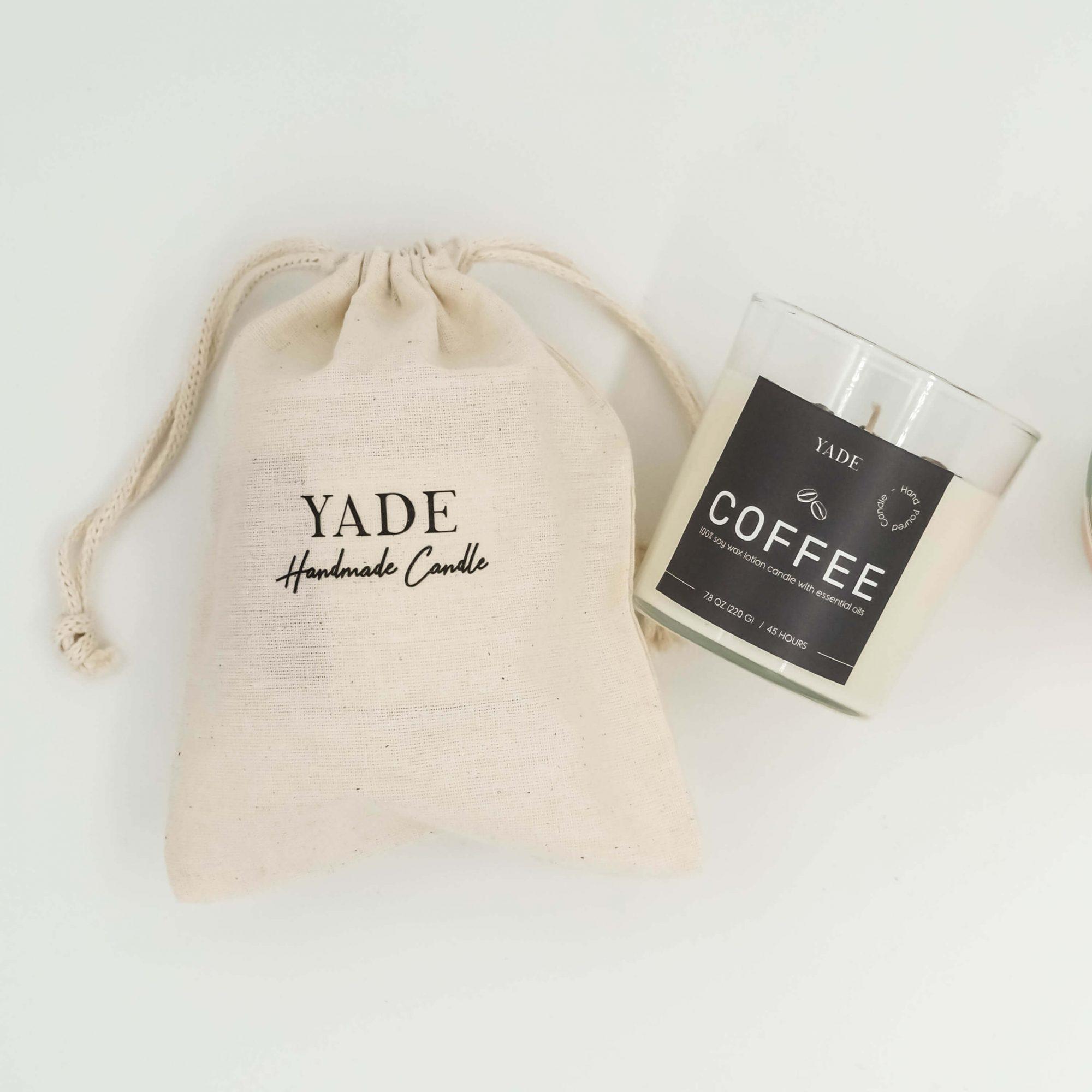 Yade Premium Büyük Soya Mum - Kahve2