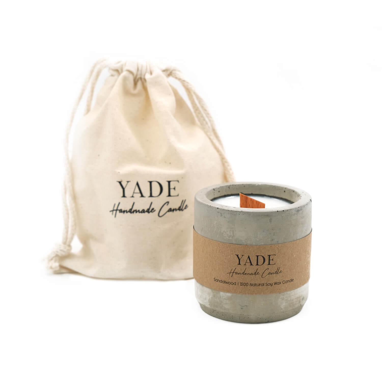 Yade - Beton Sandal Ağacı Aromalı Soya Mum