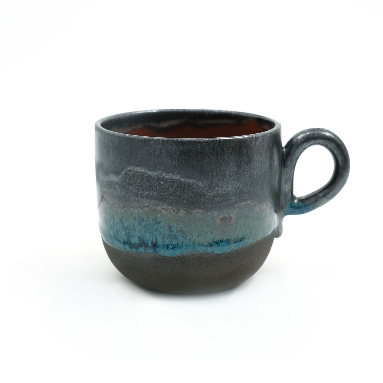 El Yapımı Seramik Kupa - Mavi