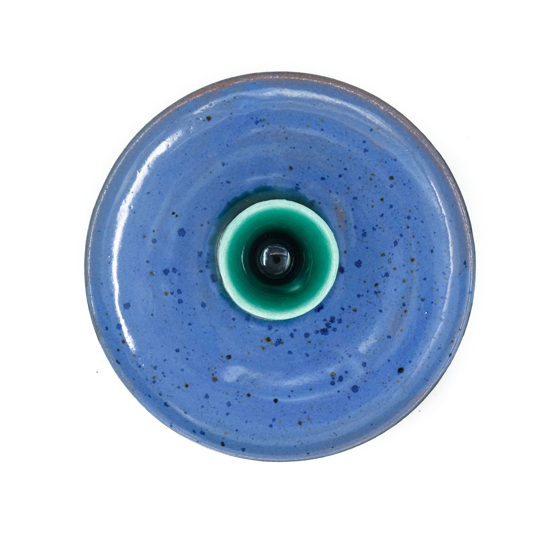 El Yapımı Seramik Tütsülük - Mavi-2