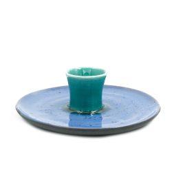 El Yapımı Seramik Tütsülük - Mavi