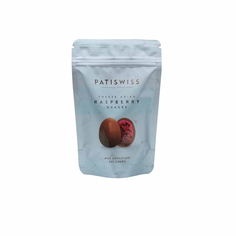 Patiswiss Freeze Dried Milk Chocolate Raspberry Dragee