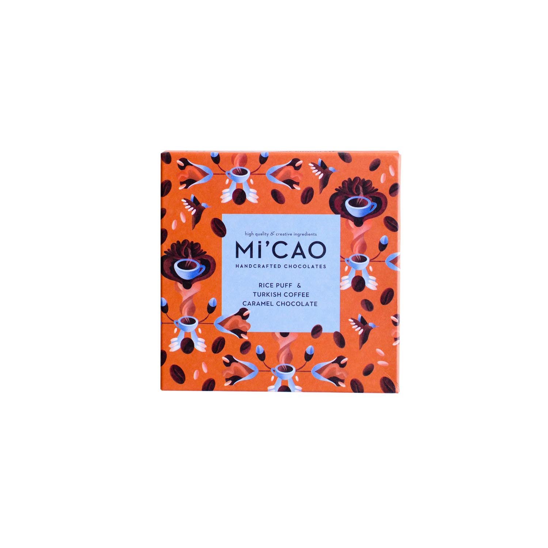 Mi'CAO Pirinç Patlağı & Türk Kahveli Karamel Çikolata Tablet 35 g